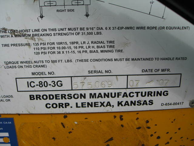 Broderson IC-80-3G